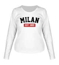 Женский лонгслив FC Milan Est. 1899