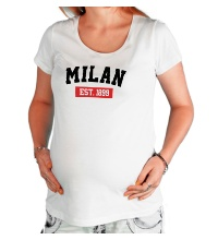 Футболка для беременной FC Milan Est. 1899