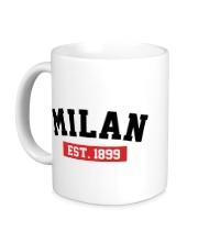 Керамическая кружка FC Milan Est. 1899