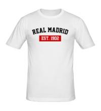 Мужская футболка FC Real Madrid Est. 1902