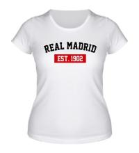 Женская футболка FC Real Madrid Est. 1902