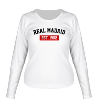 Женский лонгслив FC Real Madrid Est. 1902