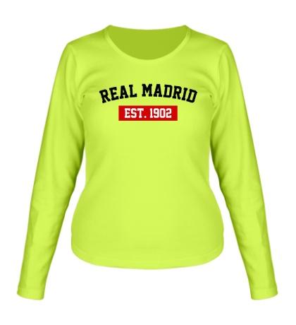 Женский лонгслив FC Real Madrid Est. 1902