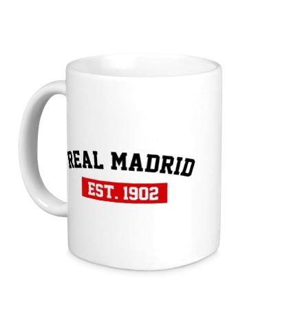 Керамическая кружка FC Real Madrid Est. 1902
