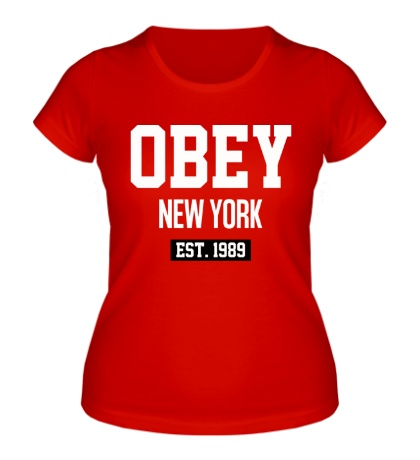 Женская футболка Obey Est. 1989