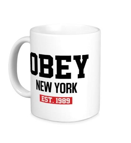 Керамическая кружка Obey Est. 1989