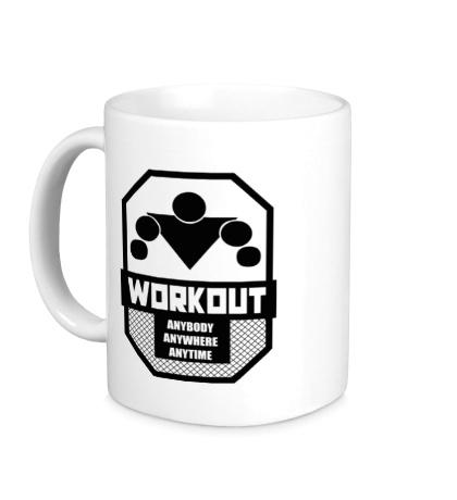 Керамическая кружка Workout Anybody