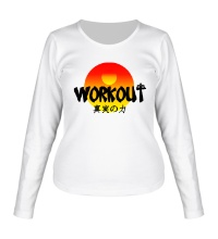 Женский лонгслив WorkOut Sunset
