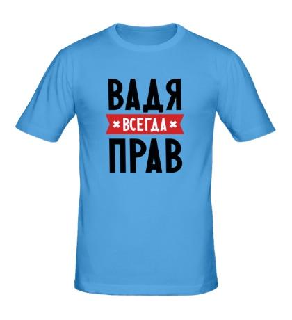 Мужская футболка Вадя всегда прав