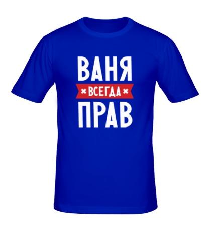 Мужская футболка Ваня всегда прав