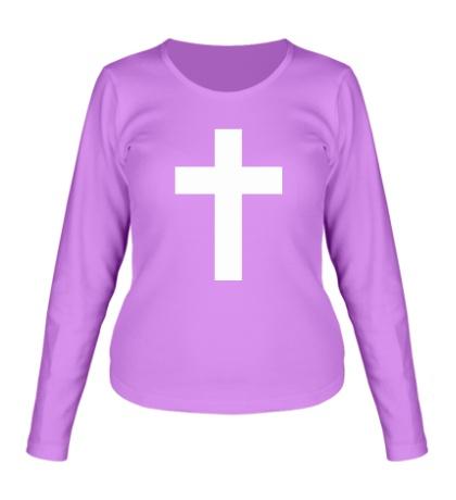 Женский лонгслив Классический крест