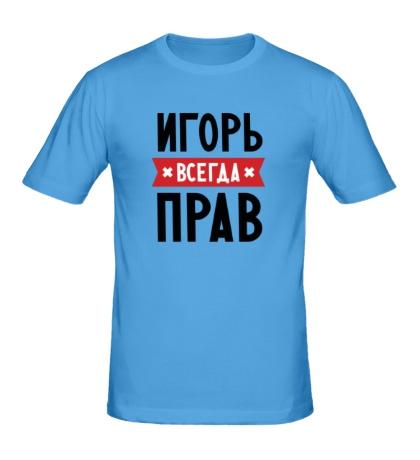 Мужская футболка Игорь всегда прав