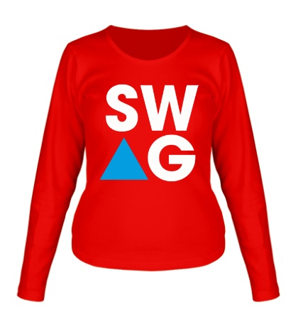 Женский лонгслив SW-AG Triangle