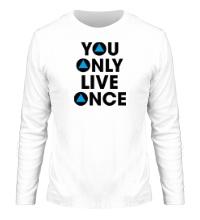 Мужской лонгслив You Only Live Once