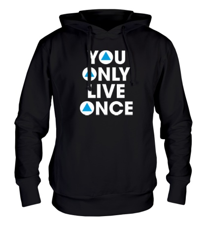 Толстовка с капюшоном You Only Live Once