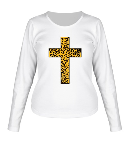 Женский лонгслив Cross Leopard