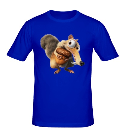 Мужская футболка Белка с орехом