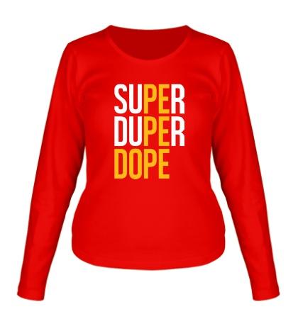 Женский лонгслив Super Dope