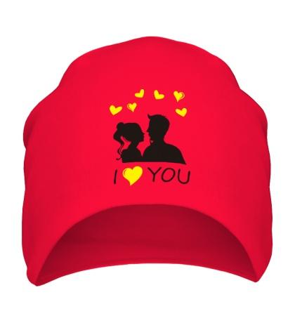 Шапка I heart you