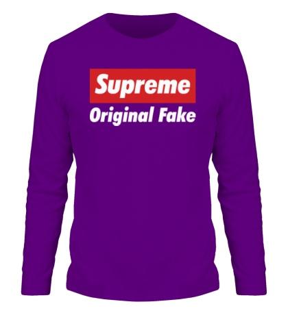 Мужской лонгслив Supreme Original Fake