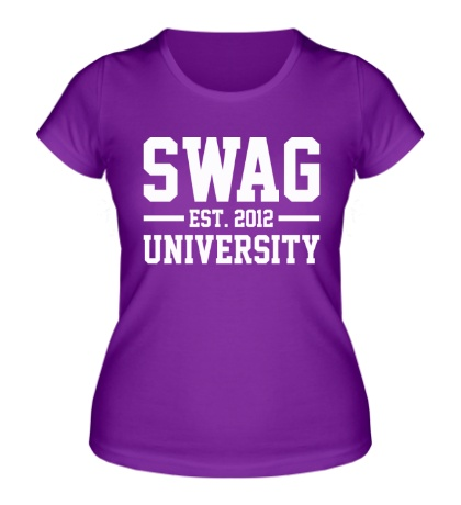 Женская футболка Swag University