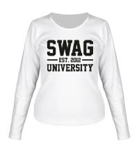 Женский лонгслив Swag University