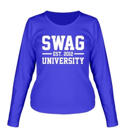 Женский лонгслив «Swag University»