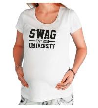 Футболка для беременной Swag University