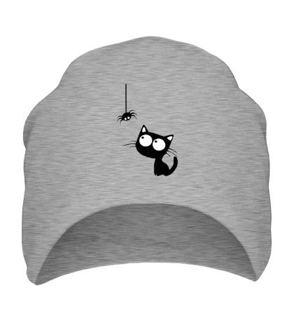 Шапка Кот и паучок