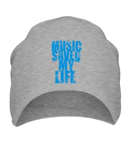 Шапка Music saved my life