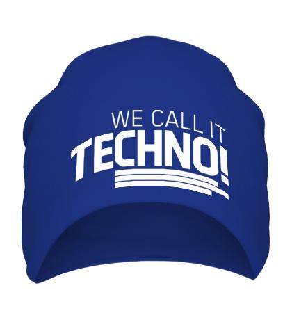 Шапка We call it Techno
