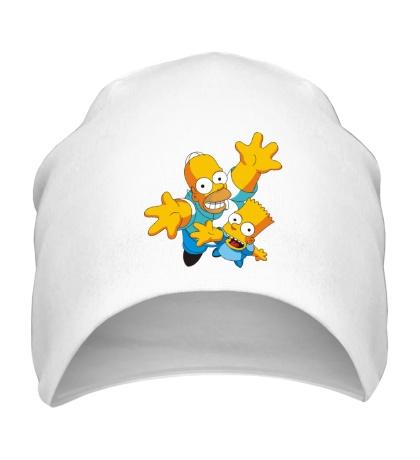 Шапка Гомер и Барт