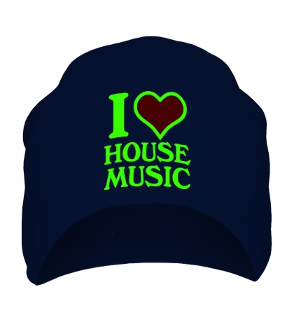 Шапка I Love House Music Glow