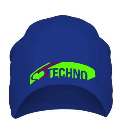 Шапка I love Techno Glow