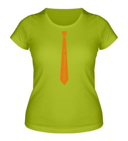Женская футболка Стильный оранжевый галстук