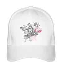 Бейсболка Бабочка и цветы