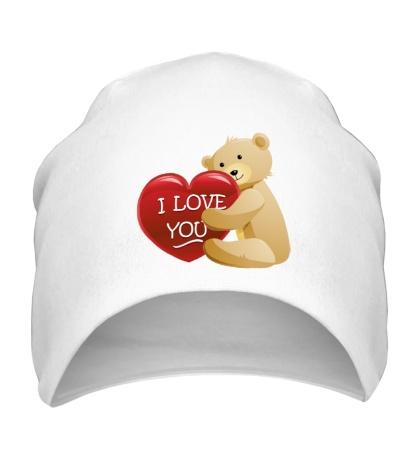 Шапка Медведь с сердцем