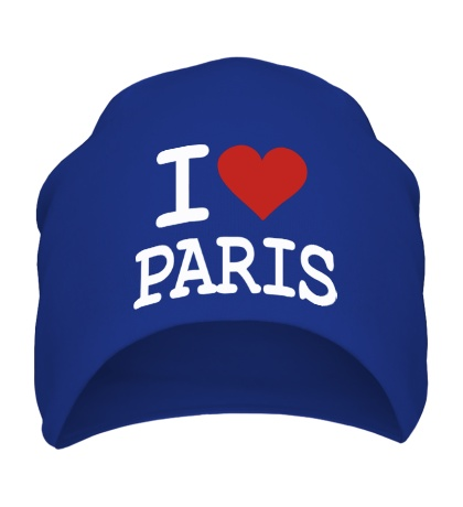 Шапка I love Paris