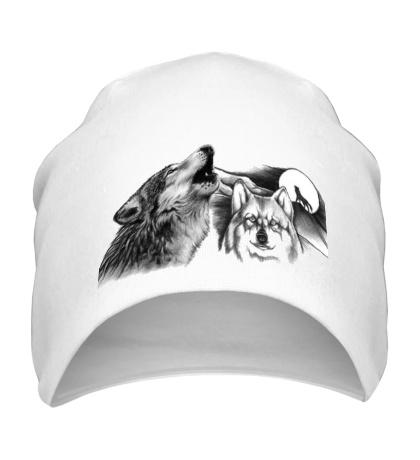 Шапка Воющие волки
