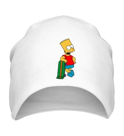 Шапка Барт со скейтом