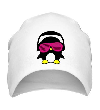 Шапка Пингвинчик в очках