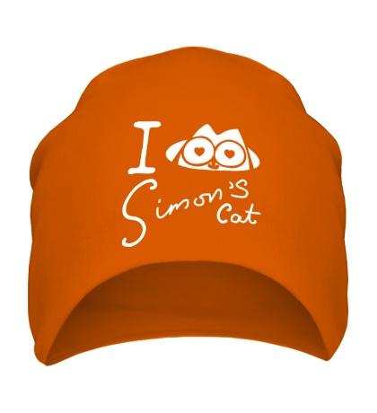Шапка I love Simons Cat