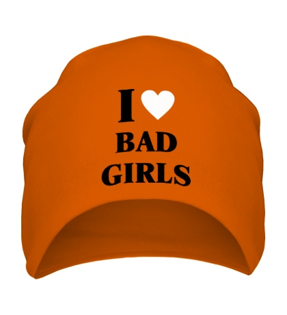 Шапка I love bad girls