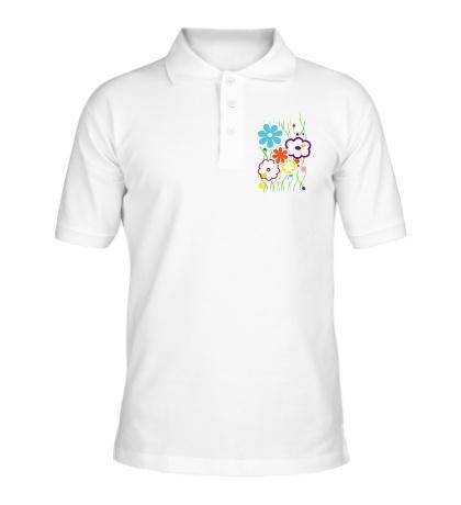 Рубашка поло Цветы