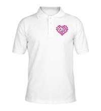 Рубашка поло Bitch сердце