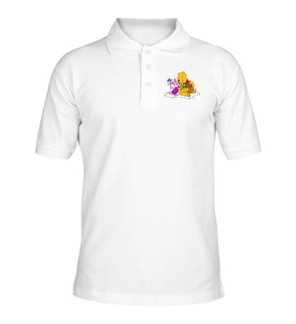 Рубашка поло Винни пух и пятачок