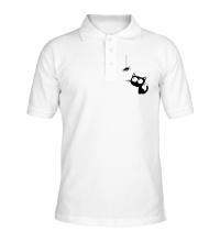 Рубашка поло Кот и паучок