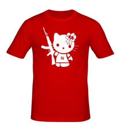 Мужская футболка Kitty Soldier