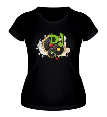 Женская футболка DJ Пластинки