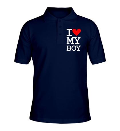 Рубашка поло I love my Boy